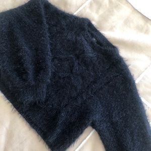 Urban Outfitters Fuzzy Cable Knit Sweater